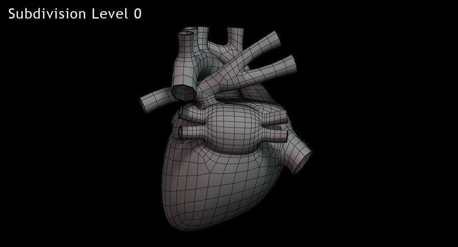 Menselijk hart royalty-free 3d model - Preview no. 14