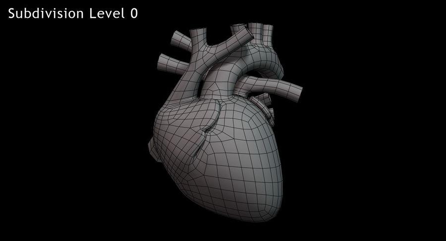 Menselijk hart royalty-free 3d model - Preview no. 12