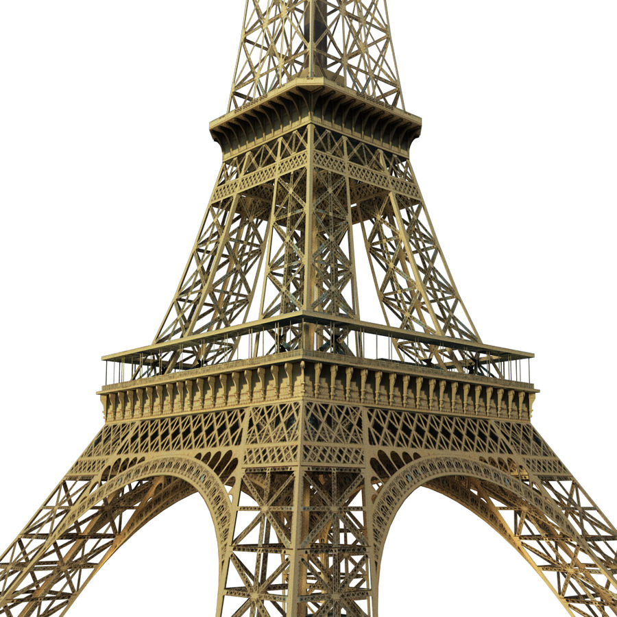 Eiffel tower low poly royalty-free 3d model - Preview no. 1