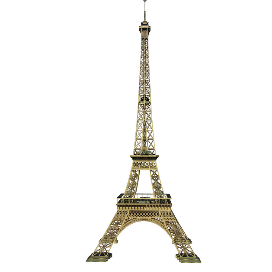 Eiffel tower low poly royalty-free 3d model - Preview no. 3
