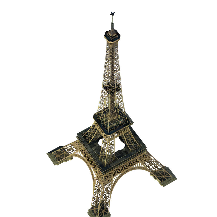 Eiffel tower low poly royalty-free 3d model - Preview no. 5