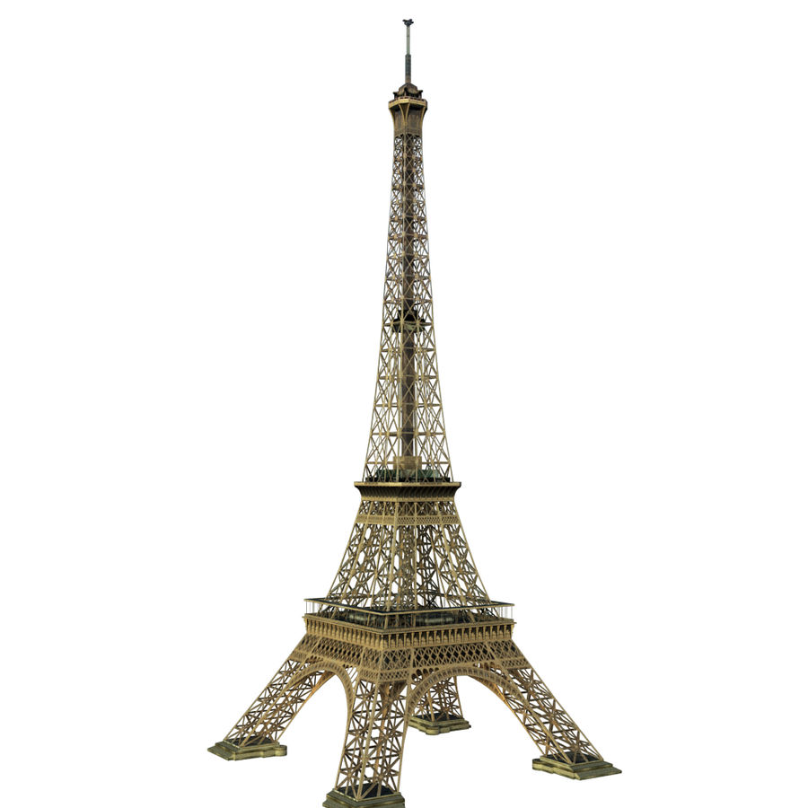 Eiffel tower low poly royalty-free 3d model - Preview no. 2