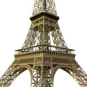 Eiffel tower low poly 3d model