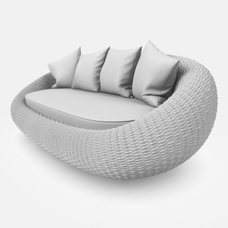 Rattan Furniture Kiwi royalty-free 3d model - Preview no. 19