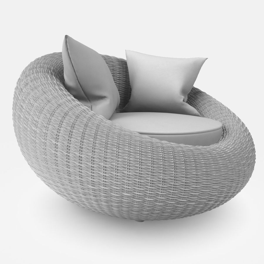 Rattan Furniture Kiwi royalty-free 3d model - Preview no. 16