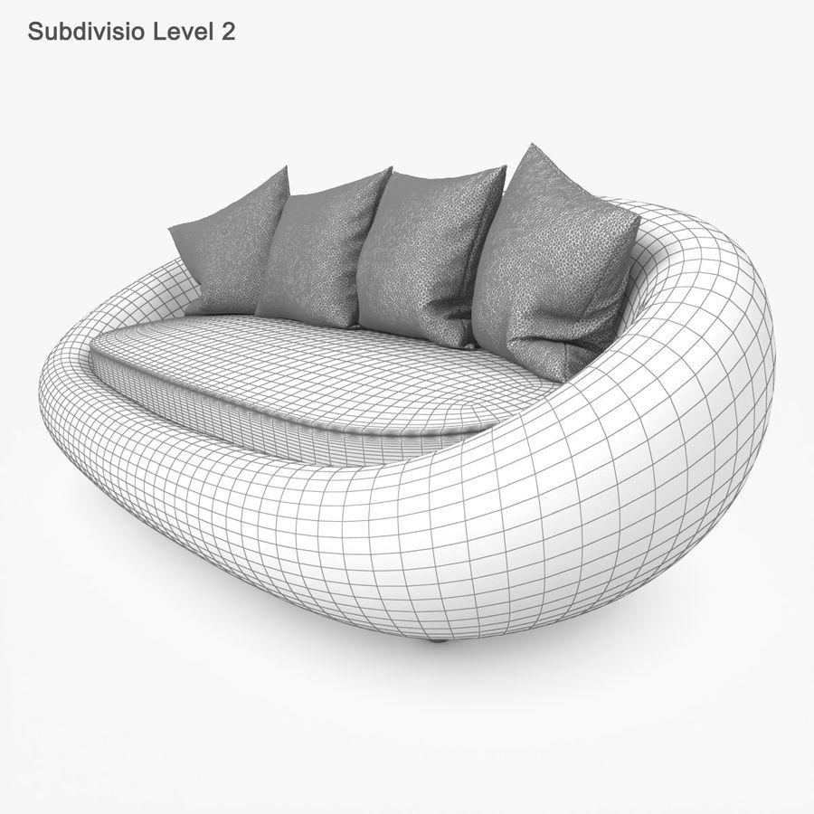 Rattan Furniture Kiwi royalty-free 3d model - Preview no. 50