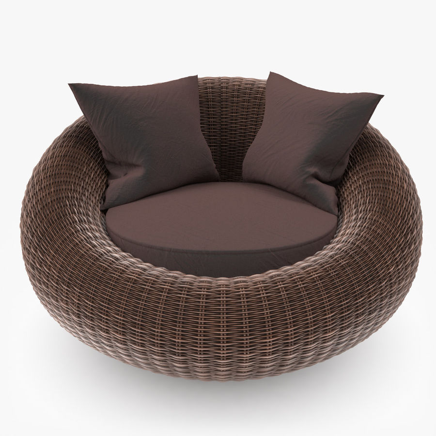 Rattan Furniture Kiwi royalty-free 3d model - Preview no. 2