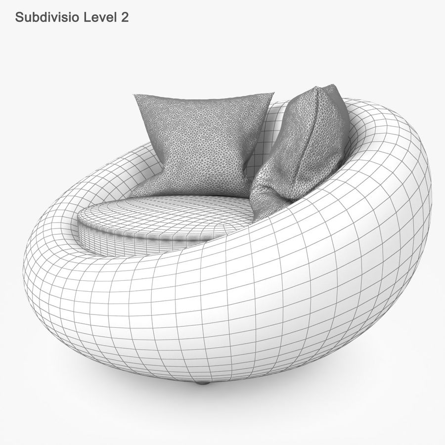 Rattan Furniture Kiwi royalty-free 3d model - Preview no. 46