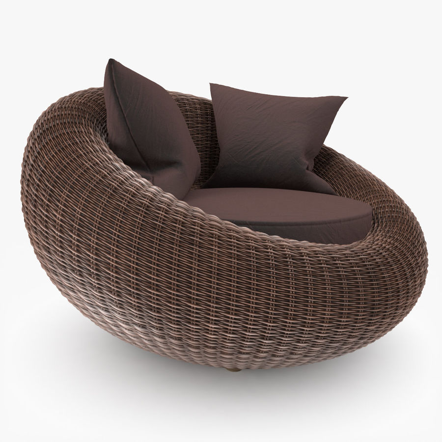 Rattan Furniture Kiwi royalty-free 3d model - Preview no. 4