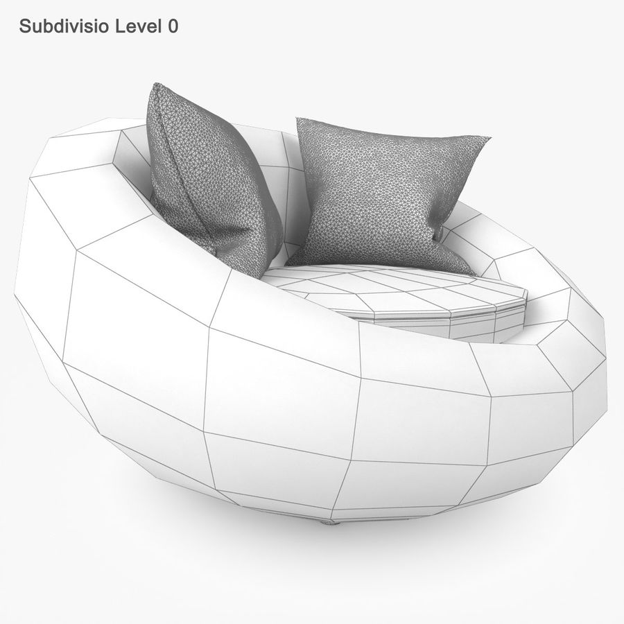 Rattan Furniture Kiwi royalty-free 3d model - Preview no. 27