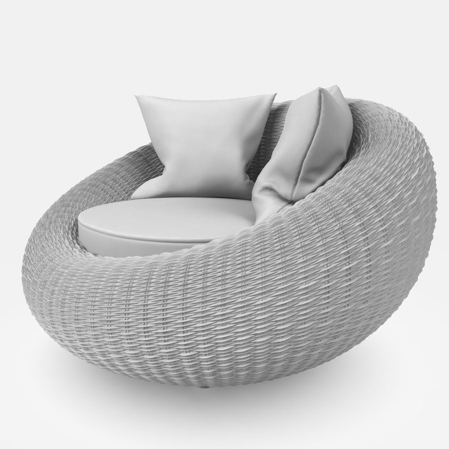 Rattan Furniture Kiwi royalty-free 3d model - Preview no. 15