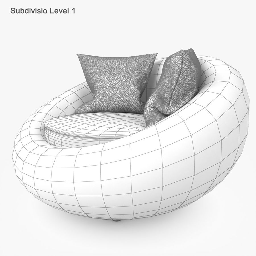 Rattan Furniture Kiwi royalty-free 3d model - Preview no. 36