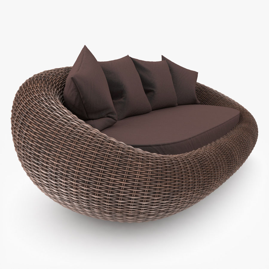 Rattan Furniture Kiwi royalty-free 3d model - Preview no. 6