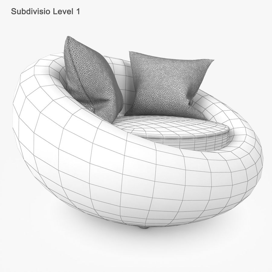 Rattan Furniture Kiwi royalty-free 3d model - Preview no. 37