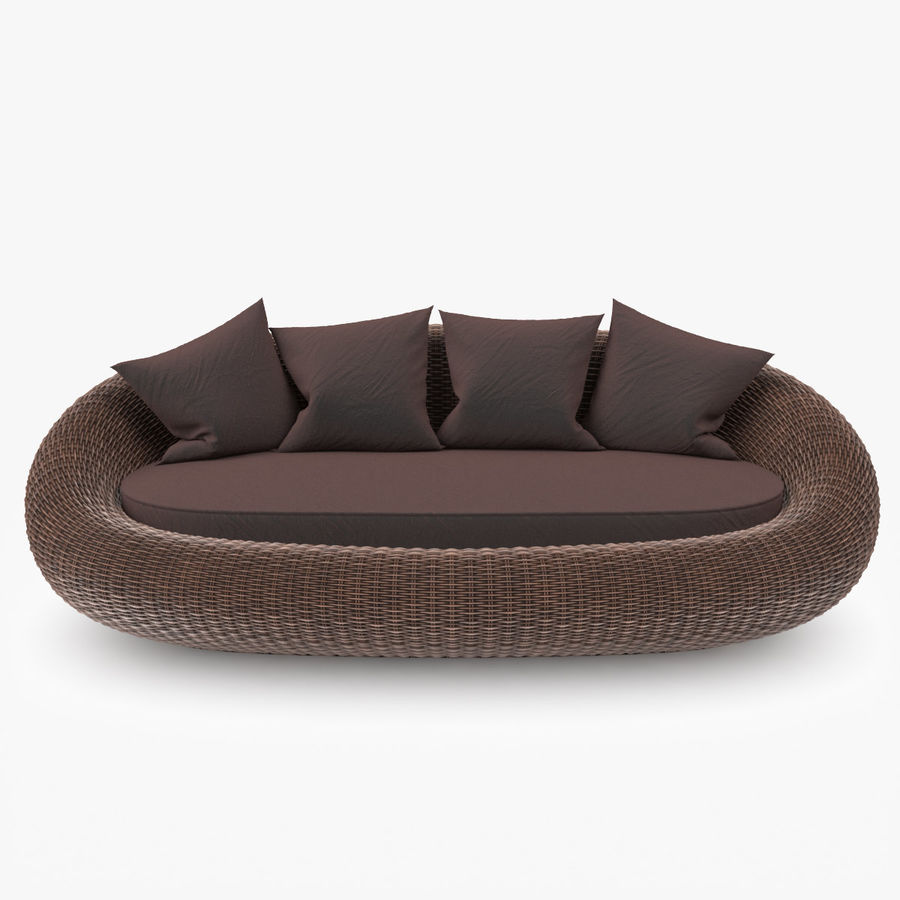 Rattan Furniture Kiwi royalty-free 3d model - Preview no. 5