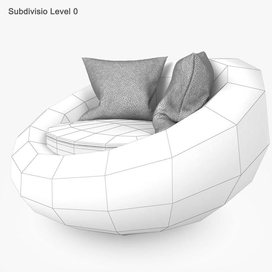 Rattan Furniture Kiwi royalty-free 3d model - Preview no. 26