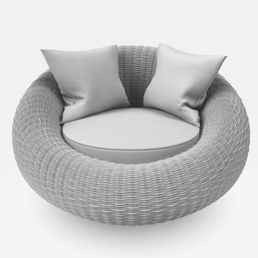 Rattan Furniture Kiwi royalty-free 3d model - Preview no. 14