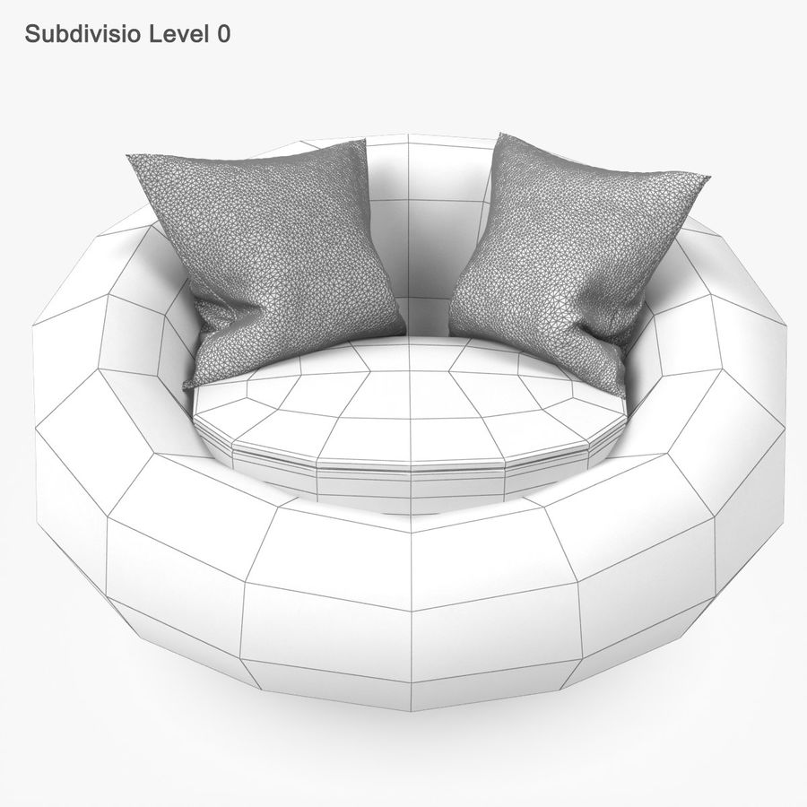 Rattan Furniture Kiwi royalty-free 3d model - Preview no. 25