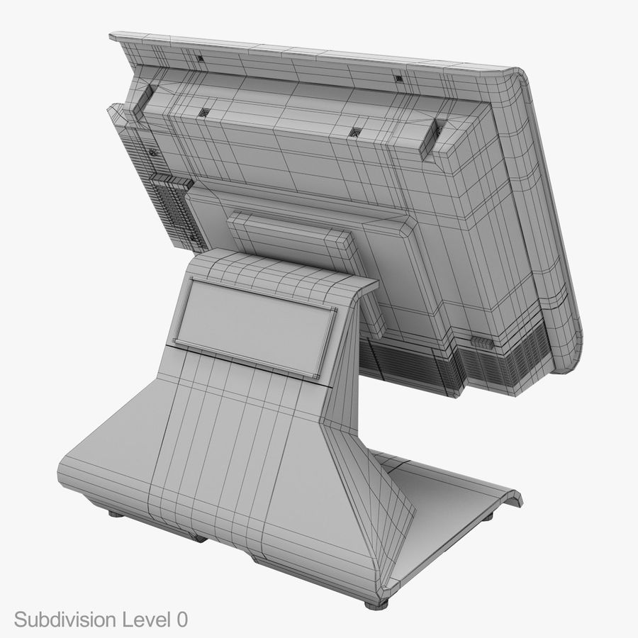 POS-терминал EverServ 7000 royalty-free 3d model - Preview no. 27