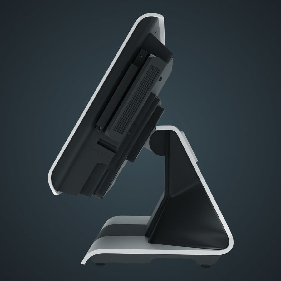 POS Terminal EverServ 7000 royalty-free 3d model - Preview no. 16