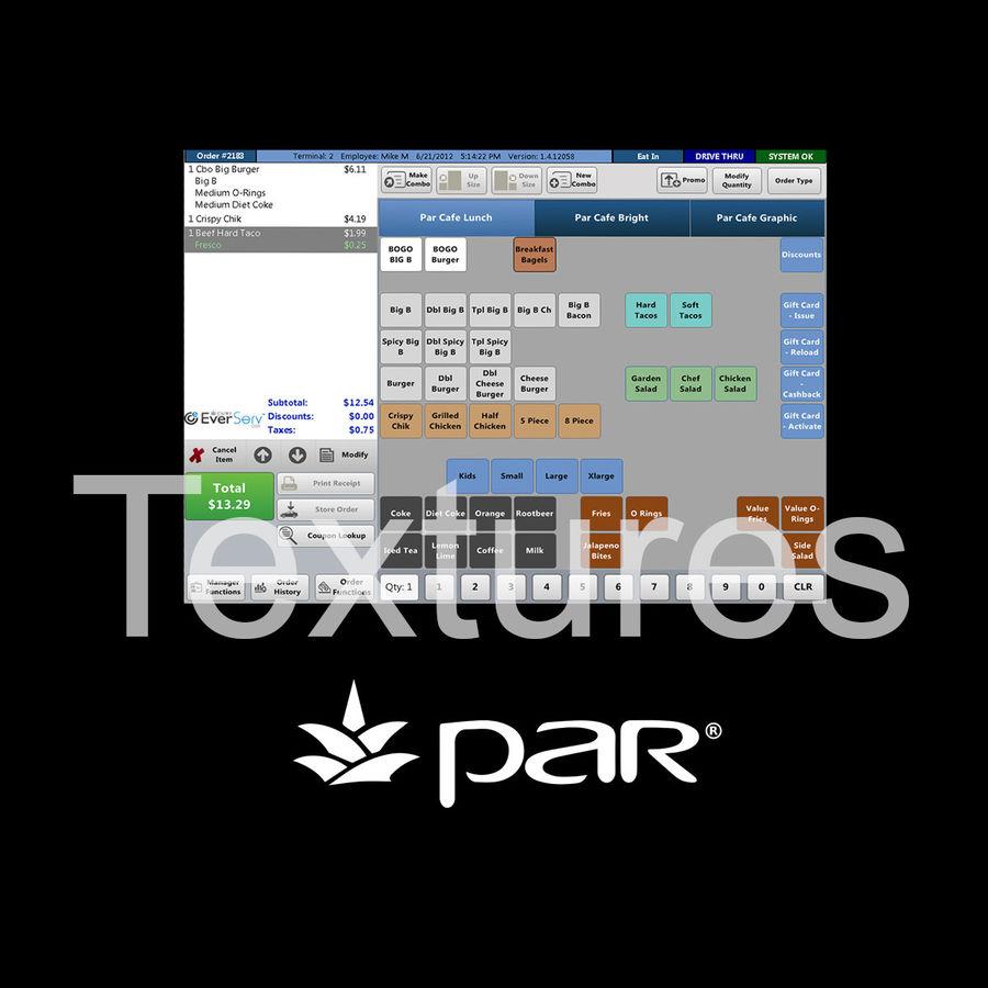 POS-терминал EverServ 7000 royalty-free 3d model - Preview no. 18