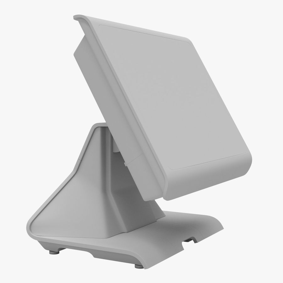 POS Terminal EverServ 7000 royalty-free 3d model - Preview no. 19