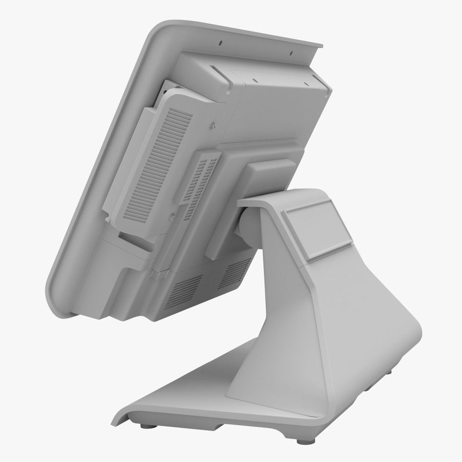 POS Terminal EverServ 7000 royalty-free 3d model - Preview no. 22