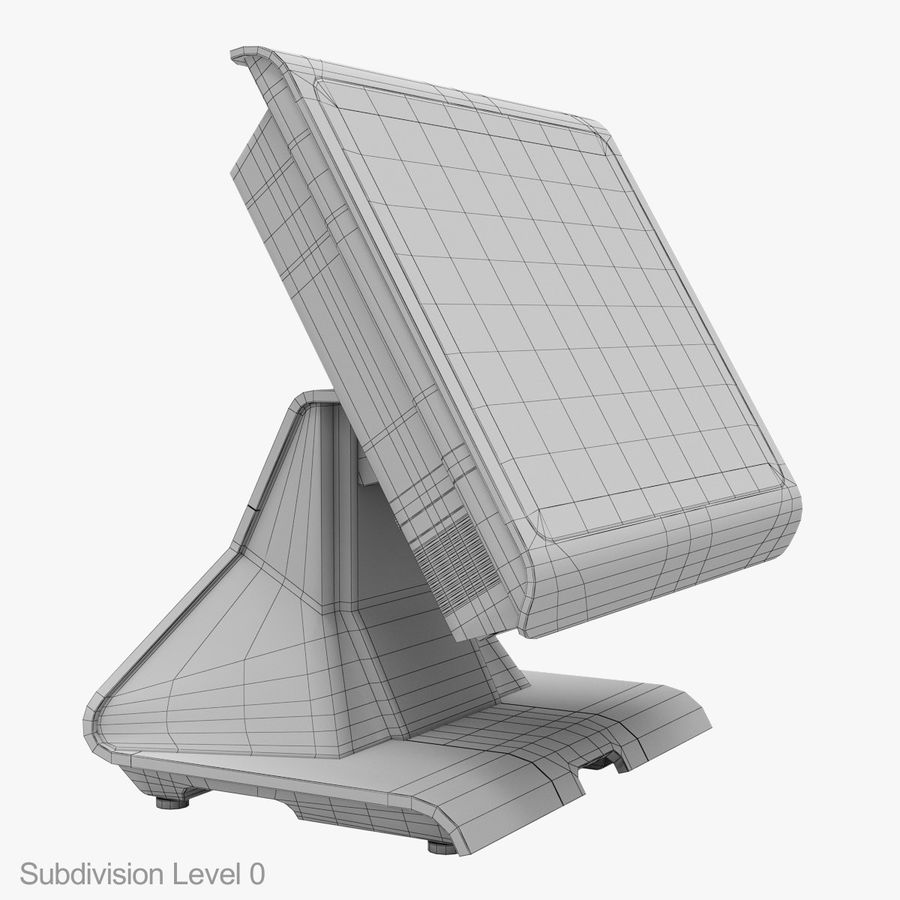 POS Terminal EverServ 7000 royalty-free 3d model - Preview no. 25