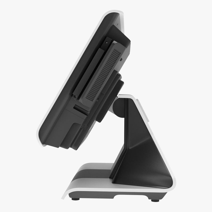 POS Terminal EverServ 7000 royalty-free 3d model - Preview no. 9
