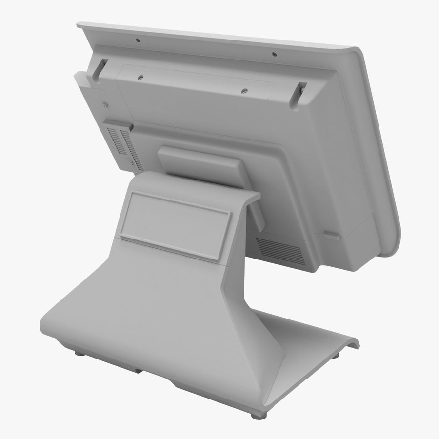 POS Terminal EverServ 7000 royalty-free 3d model - Preview no. 21