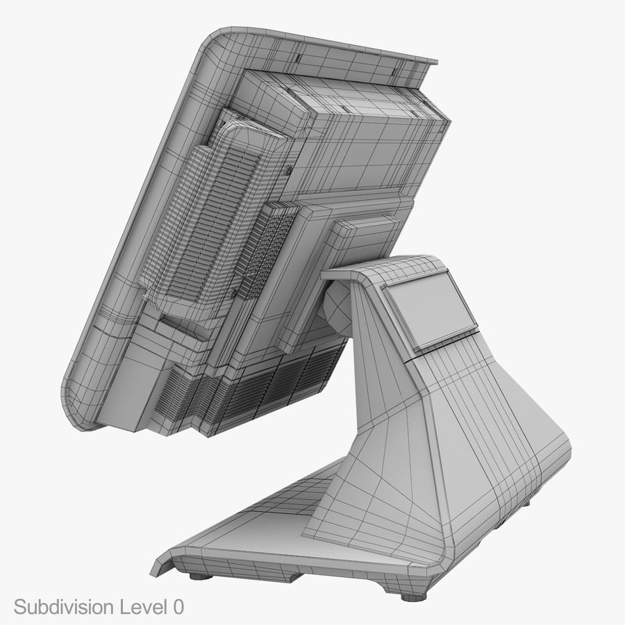POS Terminal EverServ 7000 royalty-free 3d model - Preview no. 28