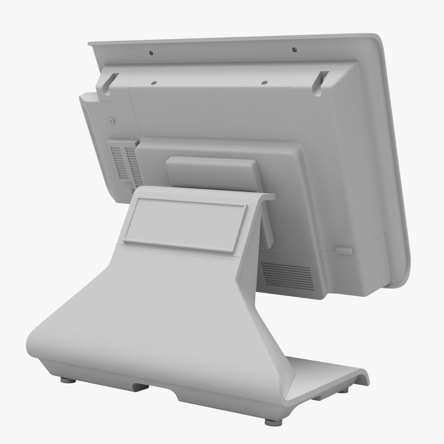 POS Terminal EverServ 7000 royalty-free 3d model - Preview no. 23