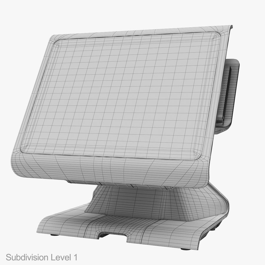 POS Terminal EverServ 7000 royalty-free 3d model - Preview no. 32