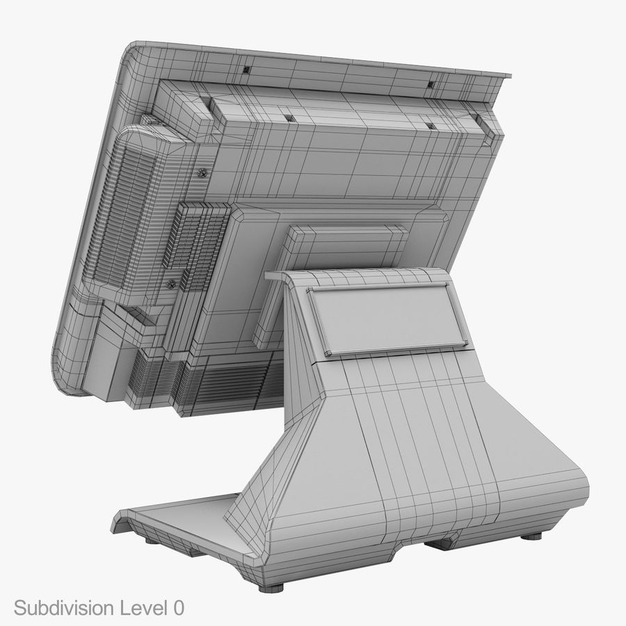 POS Terminal EverServ 7000 royalty-free 3d model - Preview no. 26