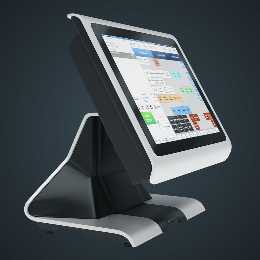 POS Terminal EverServ 7000 royalty-free 3d model - Preview no. 11