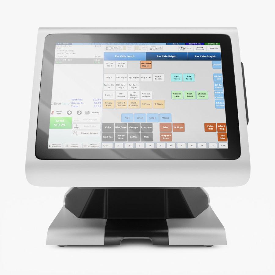 POS-терминал EverServ 7000 royalty-free 3d model - Preview no. 7