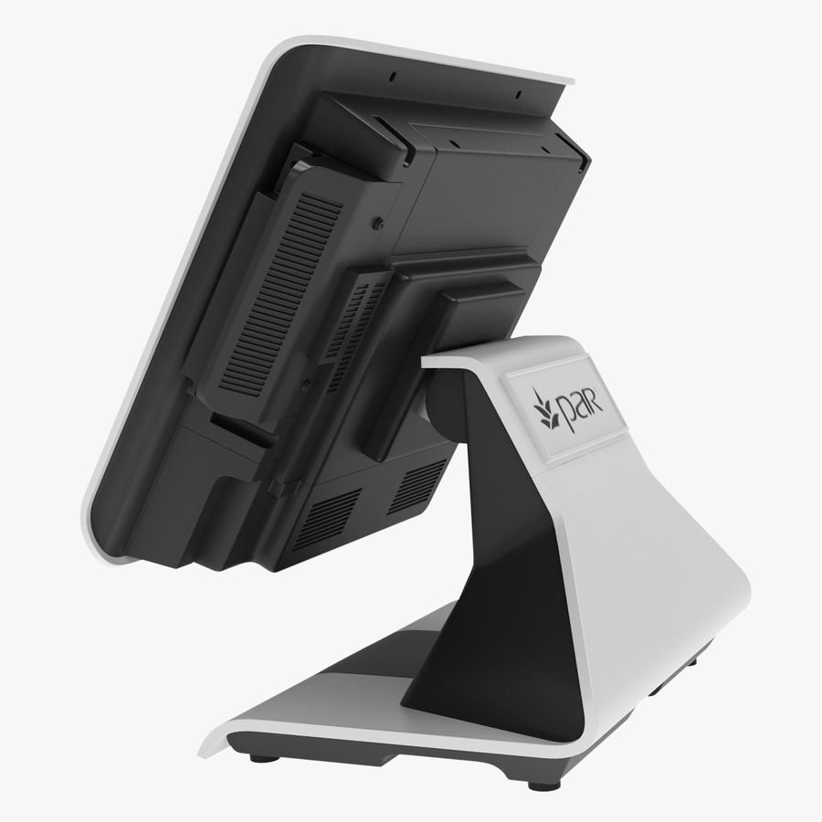 POS Terminal EverServ 7000 royalty-free 3d model - Preview no. 5