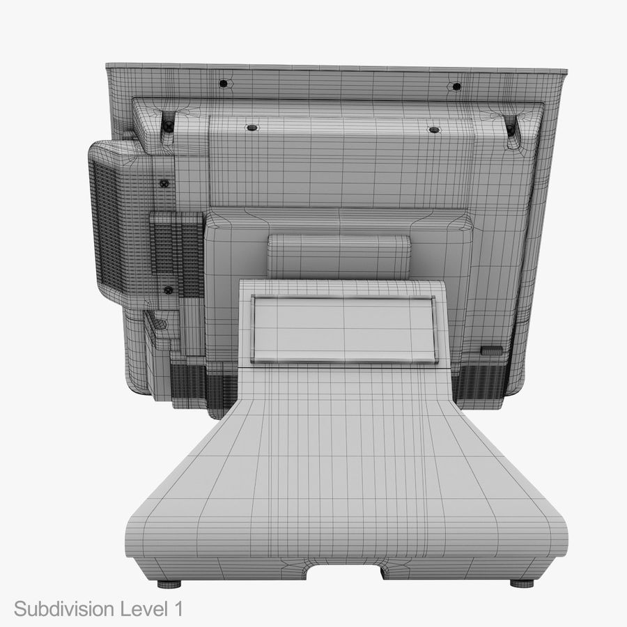 POS Terminal EverServ 7000 royalty-free 3d model - Preview no. 31