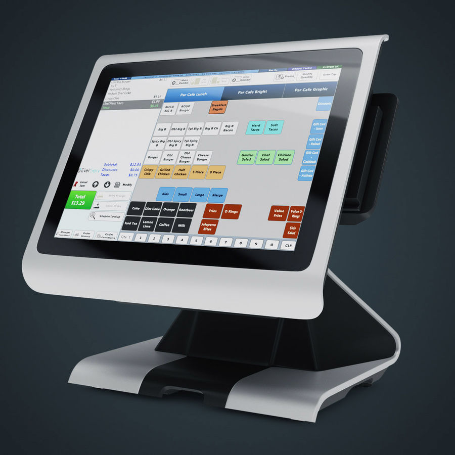 POS Terminal EverServ 7000 royalty-free 3d model - Preview no. 2