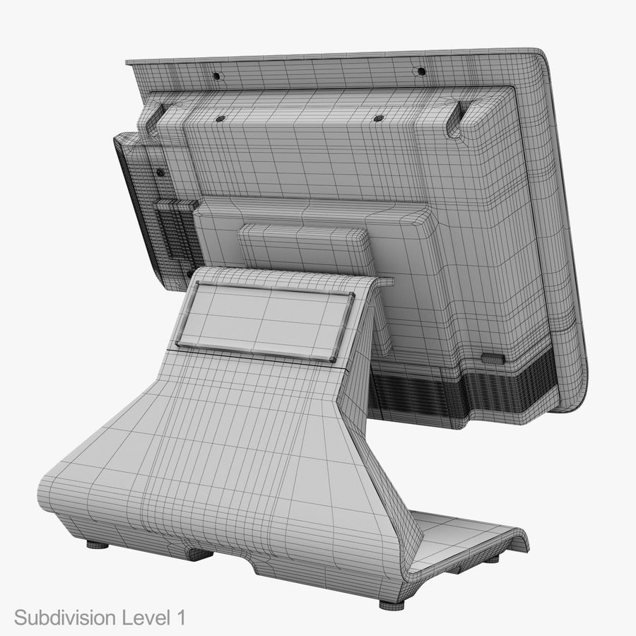 POS Terminal EverServ 7000 royalty-free 3d model - Preview no. 29