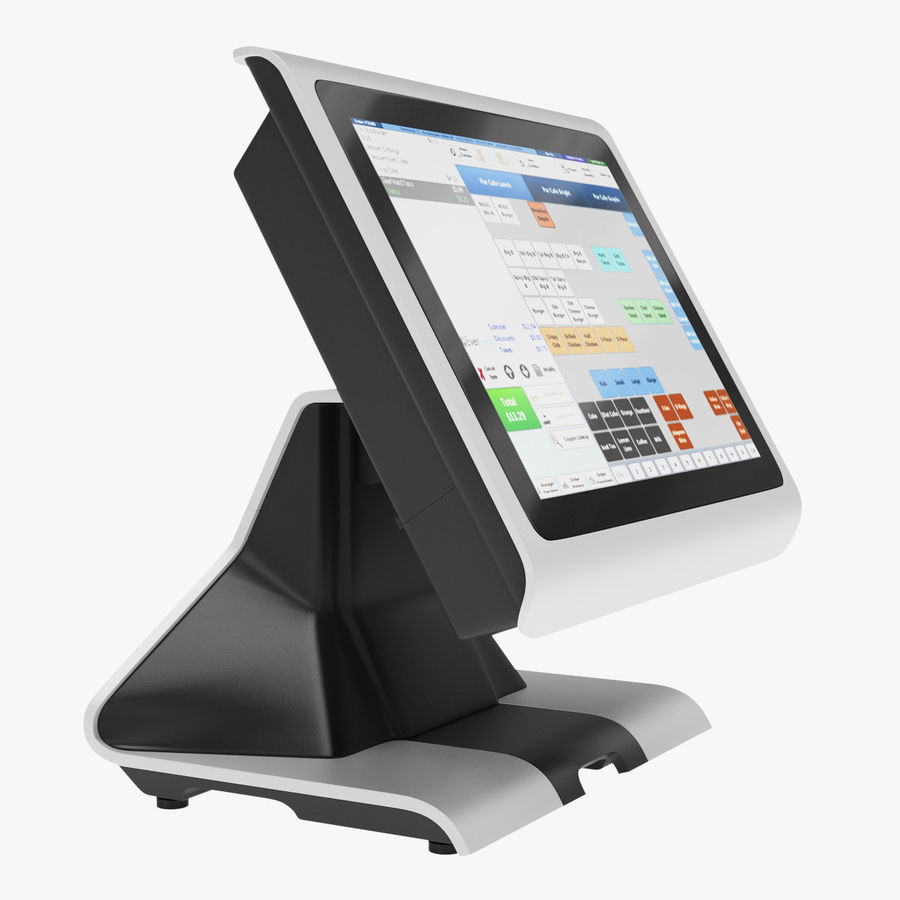 POS Terminal EverServ 7000 royalty-free 3d model - Preview no. 3