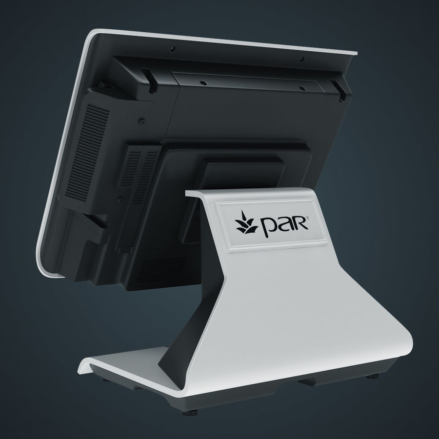 POS Terminal EverServ 7000 royalty-free 3d model - Preview no. 12