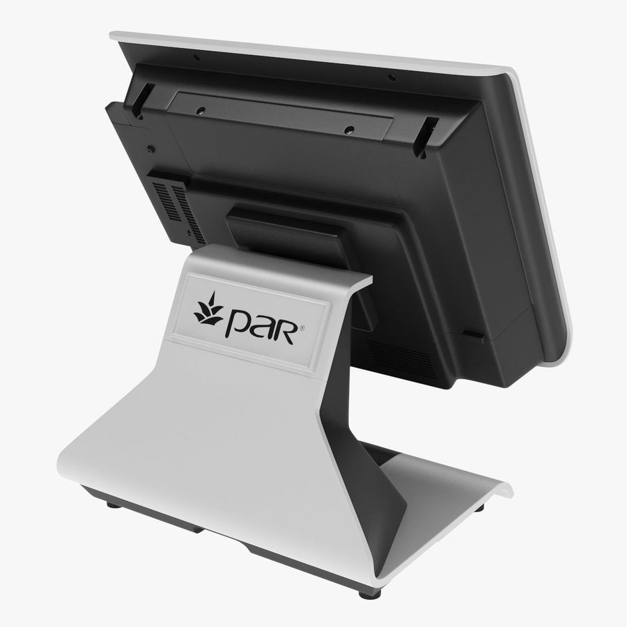POS Terminal EverServ 7000 royalty-free 3d model - Preview no. 8