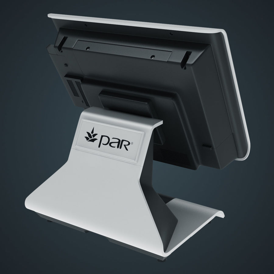 POS Terminal EverServ 7000 royalty-free 3d model - Preview no. 13