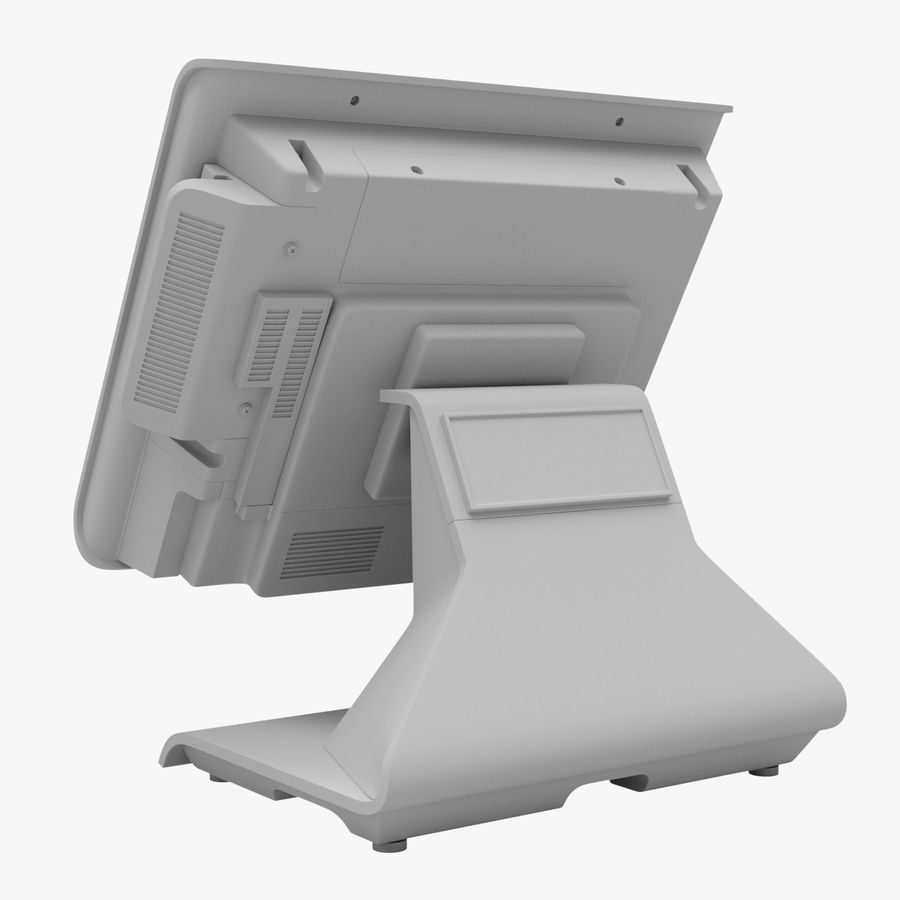 POS Terminal EverServ 7000 royalty-free 3d model - Preview no. 20
