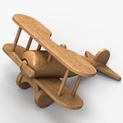 Avión de juguete de madera modelo 3d