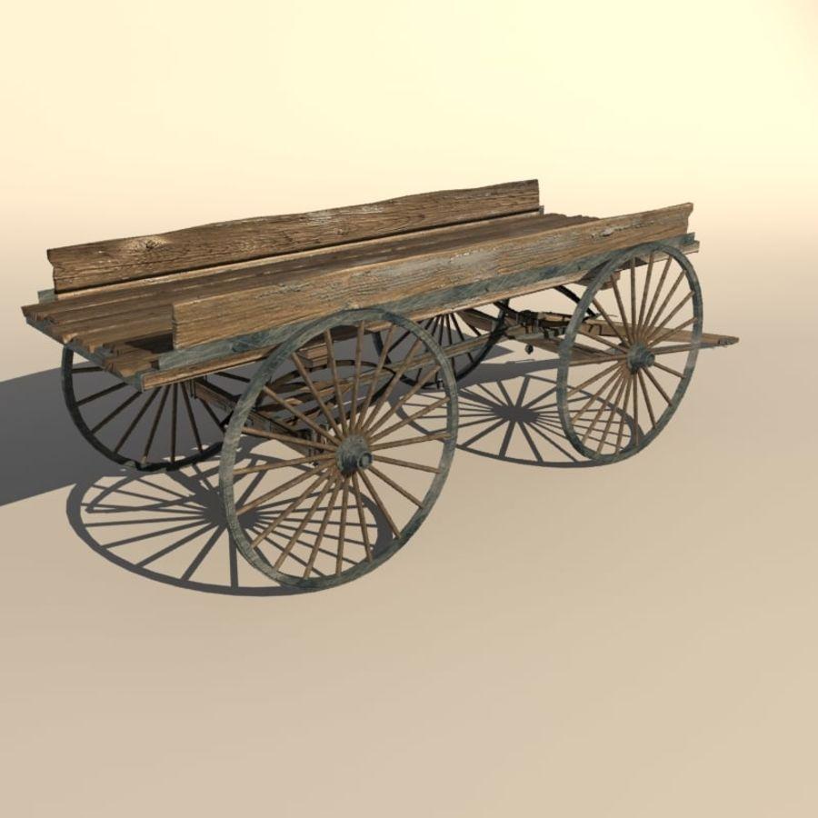 오래 된 나무 장바구니 royalty-free 3d model - Preview no. 3