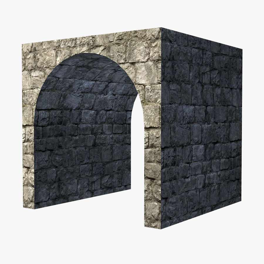 Modular Castle / Dungeon Building Set royalty-free 3d model - Preview no. 11