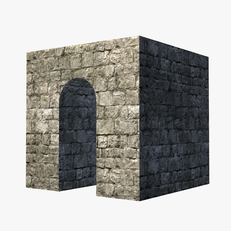 Modular Castle / Dungeon Building Set royalty-free 3d model - Preview no. 13