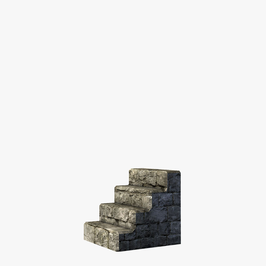 Modular Castle / Dungeon Building Set royalty-free 3d model - Preview no. 30